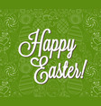 happy easter egg lettering on egg background vector image
