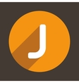Letter J Logo Flat Icon Style vector image