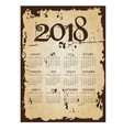 2018 simple business wall calendar with torn old vector image vector image
