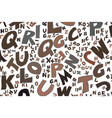 abstract colorful alphabets letters artistic for vector image