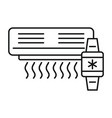 air conditioner smart control icon outline style vector image vector image