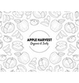 apple harvest banner template organic and tasty vector image vector image
