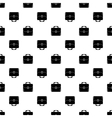 Bag Silhouette Seamless Pattern Briefcase vector image vector image