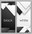 Black and white geometric tech banners vector image