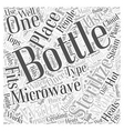 bottle sterilizer Word Cloud Concept vector image vector image