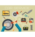 Car repair service center concept with tuning vector image