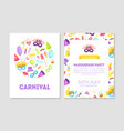 carnival masquerade party banner flyer or vector image vector image