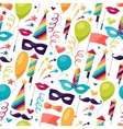 Celebration seamless pattern with carnival icons vector image vector image