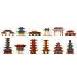 chinese traditional buildings asian traditional vector image