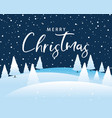 christmas calligraphy with tree and snowflakes vector image vector image