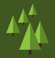 christmas trees or fir trees vector image vector image