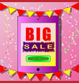 colorful banner big sale online shop vector image