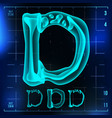 d letter capital digit roentgen x-ray vector image vector image