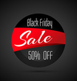discount black friday sale label vector image vector image