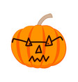 evil halloween pumpkin with glasses vector image vector image