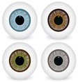 Eye ball set vector image