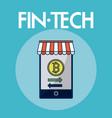 financial technolgoy concept vector image