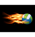 Flaming Volleyball vector image