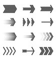 flat design arrow navigation icon set vector image vector image