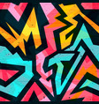 graffiti bright psychedelic seamless pattern on a vector image vector image