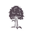 hand carved bold block print tree icon clip art