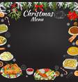 hand drawn chalk restaurant festive menu template vector image vector image