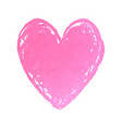 heart shape drawn with pink vector image vector image