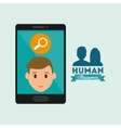 Human resources design Person icon Isolated vector image vector image