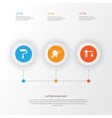 industry icons set collection of lifting hook vector image vector image