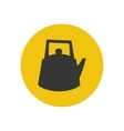 Kettle silhouette icon vector image vector image