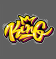 king lettering vector image vector image