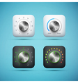 knob icons set vector image