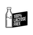 lactose free icon vector image vector image