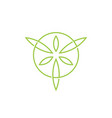 leaf leaves circle circular logo icon vector image