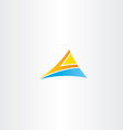 letter a orange blue logo triangle vector image vector image