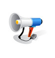loudspeaker or megaphone icon isolated on white vector image