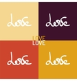 love hand-drawn lettering vector image vector image