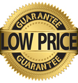 Low price guarantee gold label vector image vector image