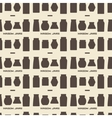 Mason jars silhouette icons set seamless texture vector image vector image