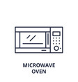 microwave oven line icon concept microwave oven vector image vector image