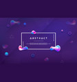 modern trendy purple liquid background vector image