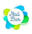 nail bar logo concept creative studio design vector image