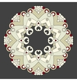 Ornamental lace pattern Circle vector image vector image