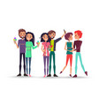 portrait of three lovely young couples on white vector image vector image