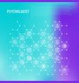 psychologist concept in honeycombs vector image vector image