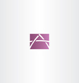 purple icon letter a logotype logo vector image vector image