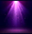 purple spotlights scene disco light effects vector image