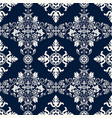 seamless damask pattern two color background vector image