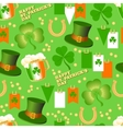 seamless pattern St Patrick Day on a vector image