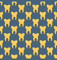 seamless pattern with many yellow teeth vector image vector image